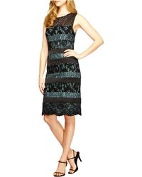 Alex Evenings Mixed Media Scalloped Dress - Lyst