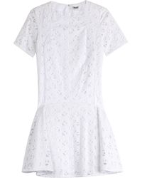 Kenzo Embroidered Cotton Dress - Lyst