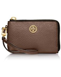 Tory Burch Robinson Pebbled Convertible Wristlet - Lyst