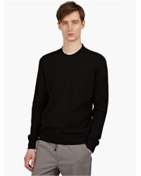 Maison Margiela 10 Men'S Black Crew Neck Knit Jumper - Lyst