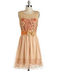 Ryu Dba Aimind International Home Sweet Scone Dress in Apricot - Lyst
