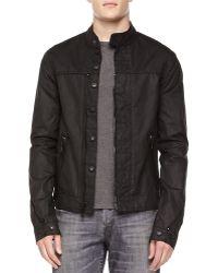 Hudson Coated Zip-front Jacket - Lyst