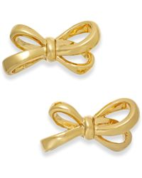 Kate Spade Gold-Tone Bow Stud Earrings - Lyst