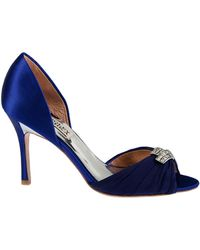 Badgley Mischka Jennifer Fabric Heels - Lyst