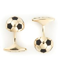 Paul Smith Gold Football Cufflinks - Lyst