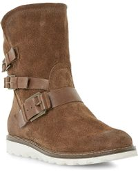Dune Rainyday Faux-fur Lined Outdoor Boots - Lyst