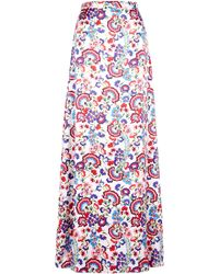 Alice By Temperley Lou Lou Long Printed Skirt - Lyst