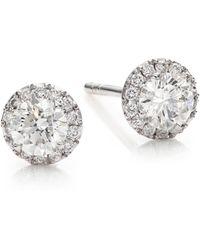 Marli - Fifi Diamond & 18k White Gold Femme Super Stud Earrings - Lyst
