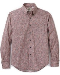 Naked & Famous Flower Print Shirt - Lyst
