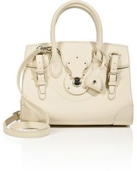 Ralph Lauren Collection Leather Soft Ricky Tote - Lyst