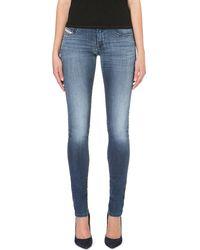 Diesel Livier Skinny Lowrise Jeans Blue - Lyst