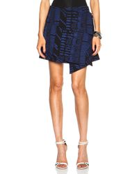 Proenza Schouler Asymmetric Tie Viscose Skirt - Lyst