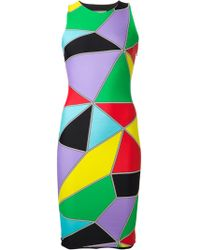 Fausto Puglisi Geometric Print Fitted Dress - Lyst