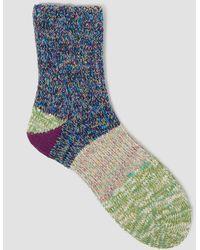 Mauna Kea - Colour Knit Four Part Sock Purple/green - Lyst