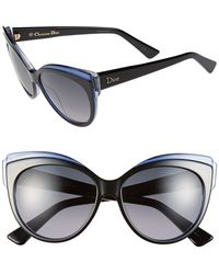 Dior 'Glisten 1' 56Mm Cat Eye Sunglasses - Lyst