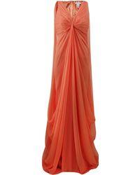 Pamella Roland Full Drape Chiffon Gown - Lyst