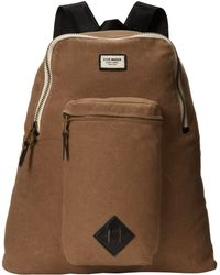 Steve Madden Tan Canvas Boxy Backpack - Lyst