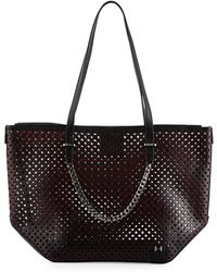 Halston Heritage | Perforated Leather Tote Bag | Lyst