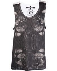 Sons Of Heroes Lion Print Vest gray - Lyst