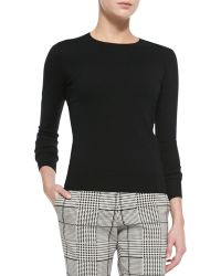 Theory Perfect Staple Cashmere Crewneck Sweater - Lyst