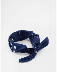 Asos Mixed Dot Bandana Headscarf And Neckerchief - Lyst
