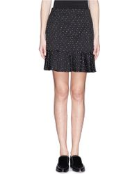 Erdem Romey Dot Jacquard Flounce Skirt - Lyst