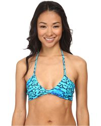 Mikoh Swimwear Namotu Scoop Neck Halter With String Tie Back blue - Lyst
