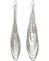 Fragments Interlocking Oval Drop Earrings - Lyst