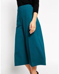 Asos Premium Culotte With Wide Leg - Lyst