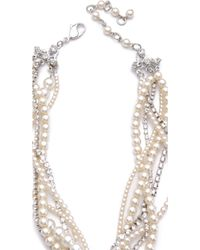 Erickson Beamon - White Wedding Necklace White - Lyst