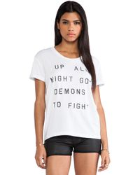 Zoe Karssen Up All Night Tee - Lyst