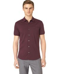 Calvin Klein P Buttondown Polo - Lyst