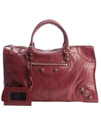 Balenciaga Cassis Distressed Leather Giant Work Large Top Handle Bag - Lyst