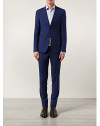 Sand - Checked Two Piece Suit - Lyst