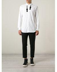 Neil Barrett Bow Tie Print Shirt - Lyst