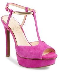 Jessica Simpson 'Carah' Platform Sandal purple - Lyst