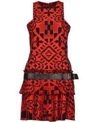 Alexander McQueen Red Short Dress - Lyst
