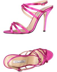 Oscar de la Renta Purple Sandals - Lyst