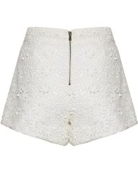 Alice + Olivia Crochet Lace Back Zip Shorts - Lyst