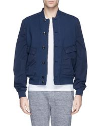 Paul Smith Contrast Sleeve Cotton Piqué Bomber Jacket - Lyst