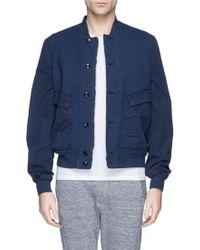 Paul Smith Contrast Sleeve Cotton Piqué Bomber Jacket - Lyst