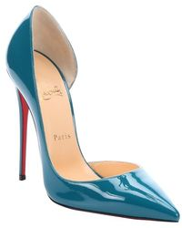 Christian Louboutin Curacao Patent Leather Half D'Orsay Stiletto Pumps - Lyst