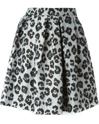 Moschino Cheap & Chic Animal Print Pleated Skirt - Lyst