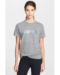 Rodarte 'Radarte' Short Sleeve Crewneck Tee gray - Lyst