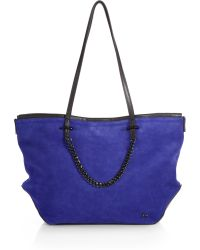 Halston Heritage Suede Chain Tote - Lyst
