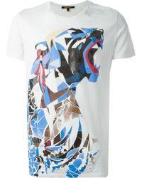 Roberto Cavalli Basic 'Roar' T-Shirt - Lyst