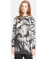 Max Mara 'Party' Long Jacquard Sweater - Lyst