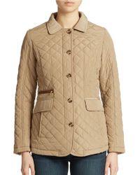 Jones New York Beige Quilted Jacket - Lyst