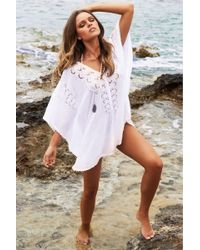 Melissa Odabash | white Embroidered Voile Cover-up Jessica | Lyst