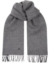 Mulberry Reversible Lambswool Cashmere Scarf - Lyst
